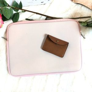 Water Repellent Neoprene Laptop Sleeve, Baby Pink